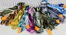 Chinese 100%real natural silk,hand-dyed embroidery floss/thread 83colors/skeins