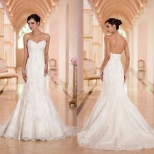 Lace strapless mermaid corset wedding dress formal evening dance ball gown New