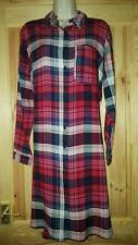 Beautiful Womens Check Shirt Tunic Dress Size 18