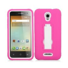 For Alcatel OneTouch Elevate 5017B Hybrid Armor Shockproof Kickstand Case Cover