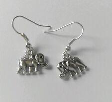 """Paar Damen """" Klein Indischer Elefant """" Tibet Silber Charme Ohrringe Kitsch"""