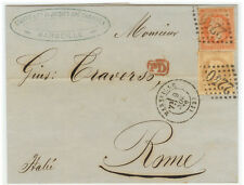 France Cover - Nap III - 1870 Marseille to Roma (IT) - Great ...