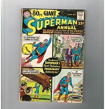 EIGHTY-PAGE GIANT #1 Superman Annual! Silver Age DC! Grade 4.0!!!