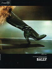 PUBLICITE ADVERTISING 074  1976   BALLY  collection bottes  MAGUY