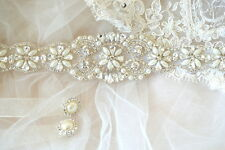 SERENA BRIDAL SASH wedding belt Vintage Crystal Luxury Dress Rhinestone