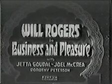 BUSINESS AND PLEASURE 1932  WILL ROGERS, JETTA GOUDAL, JOEL McCREA