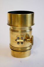 BRASS PHOTO LENS 280 mm - EARLY PETZVAL FORMULA  .