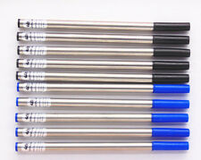 10X JINHAO ROLLER BALL PEN REFILLS BLACK AND BLUE POINT SWISS TIP Germany ink
