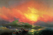 Ivan Aivazovsky The Ninth Wave Oil Painting Giclee Canvas Print repro 24x36 in