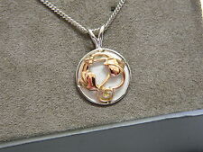 Clogau Silver & Rose Welsh Gold Tree of Life Circular Pendant RRP £199.00