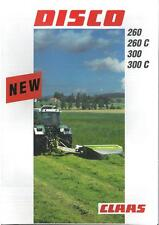 CLAAS MOWER DISCO 260 260C 300 & 300C BROCHURE - DG2
