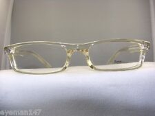 NEW SOHO 56 TAN CRYSTAL RECTANGULAR EYEGLASS FRAME
