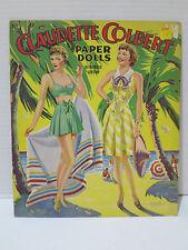 Vintage Claudette Colbert Paper Dolls