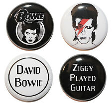 "1"" (25mm) David Bowie Button Badge Pin Set - Music & Gift - MADE IN UK"