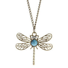 1 x Kette Libelle Halskette Anhänger Halsschmuck Dragonfly Necklace Modeschmuck