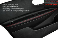 RED STITCH 2X FRONT DOOR ARMREST SKIN COVERS FITS NISSAN QASHQAI 2007-2013