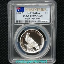 2016 Australia Wedge Tailed Eagle 1oz Silver Proof High Relief Coin PCGS PR69 DC