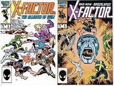 X-Factor #5 and #6 (Jul 1986, Marvel) Apocalypse 1st Cameo & full appearance VF