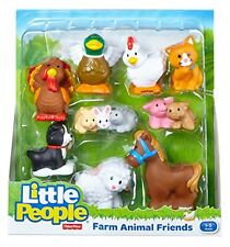 Fisher-Price Little People Farm Animal Friends w/ Baby Bunnies & Piglet 9 Pack