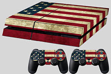 usa flag skin for ps4 console decal sticker dualshock controller #72 canada uk