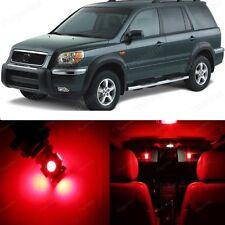 18 x Ultra Red LED Lights Interior Package Kit For Honda PILOT 2006 - 2008
