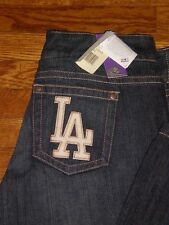 NEW Los Angeles Dodgers Women's Touch Denim Jeans  by Alyssa Milano sz:30