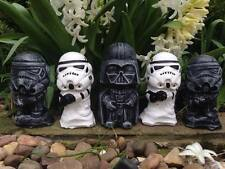 STAR Wars Darth Vader & Stormtrooper Set Ornamenti in cemento-Flash vendita GRATIS P&P