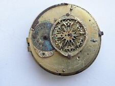 Rare verge fusee pocket watch movement spindeluhr Charpot a Lyon - Not working