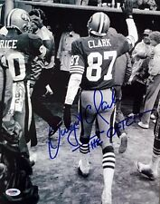 DWIGHT CLARK SIGNED AUTOGRAPHED 11x14 PHOTO + THE CATCH RARE IMAGE 49ERS PSA/DNA