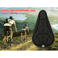 Cycling Bike Seat Cover Bicycle Soft Sponge Thick Gel Saddle Cushion Pad Black