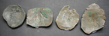LOT OF 4 ANCIENT BYZANTINE CUP COINS 9TH-12TH CENTURY AD