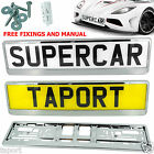 2 x SUPER CHROME EFFECT NUMBER PLATE HOLDER SURROUND FOR Jaguar X-Type XF XK
