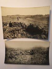 I. Weltkrieg Frankreich  Bombeneinschläge bei Humont - Deutsche Soldaten 2x Foto