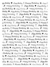 Unmounted rubber stamp Happy Birthday background