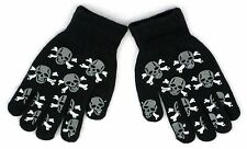 Glow In the Dark Pirate Skull Magic Stretchy Winter Gloves One Size Fits Most