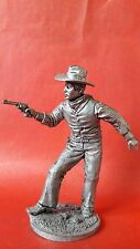 1/32 figure, Tin Soldiers, Cowboy with pistol, 19 century, 54 mm