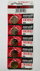 5 NEW CR2032 MAXELL 3V BATTERY - Free Shipping Worldwide - Expiration Year: 2026