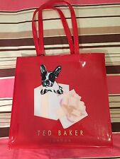 Ted Baker Cotton In A Box Large Shopper Bag Red 100% Genuine