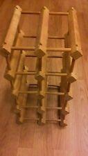 Wooden 10 Bottle Wine Rack Holder