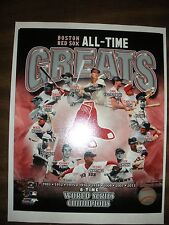 BOSTON RED SOX ALL-TIME GREATS 8 X 10 PHOTO