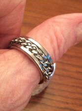 Man/womenRing/thumb Band stainless steel/Knot twist ring /Size 8.5