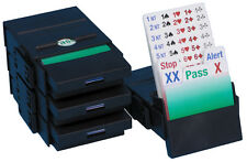 BRIDGE partner Bidding BOX-NERO-Set di 4