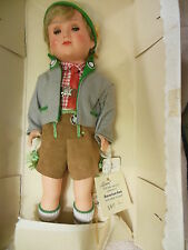 "11"" celluloid Biedermeier age boy doll with tags"