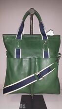 Coach Men's Heritage Web Leather Foldover Green Tote F70558 Msrp $448.00