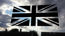 X LARGE UNION JACK SATIN BLACK Car/Bike/Window/Wall/Laptop Vinyl Decal Sticker