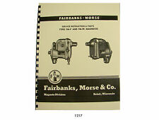 Fairbanks Morse MagnetoTypes FM-P & FM-PE Service & Parts Manual M274 Mule *1217