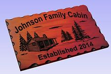 Personalized Custom Carved Wood Sign - Routed Redwood Rustic Plaque Home Decor