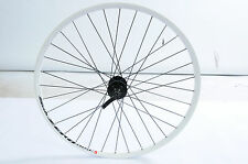 "26"" MTB (559x17) DISC HUB BIKE FRONT WHEEL WHITE ALLOY SUB ZERO DOUBLE WALL RIM"