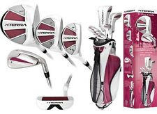 PETITE LADIES BURGUNDY COMPLETE XTERRA GOLF CLUB SET wBAG+DR+3WD+IRONS+PUTTER