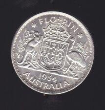 1954 Silver Florin Coin Australia R-361
